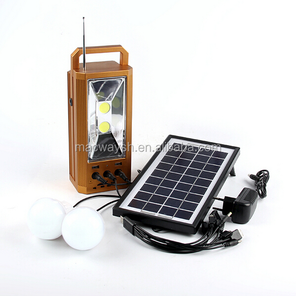 Home Lights Whole Plastic House Solar Power System AM/FM Radio