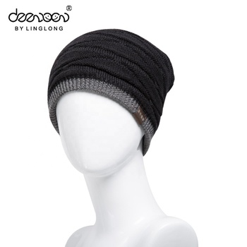 Casual Style Knitted Hat Winter Beanies Solid Color Hat Unisex Plain Warm  Soft Hip Hop Cap 6a17db056d9d