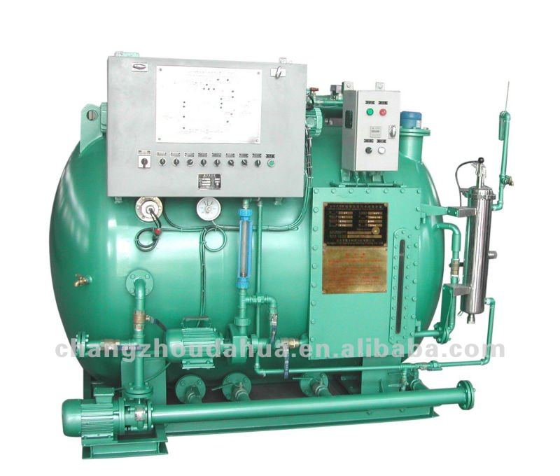 Marine toilet water treatment plant