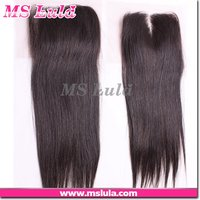 Prompt Shipping And Reliable Quality Grade 6 Silk Base Straight Hair Lace Closure 4x4