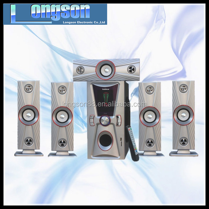 Passive home theater system 5.1 wireless speaker surround sound