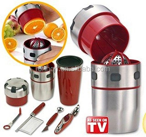 As Seen On Tv Stainless Steel Manual Juicer with a wide variety of Decorating Knife Set and Shaker