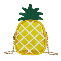 YY10015C Summer Mini pineapple small bag 2018 New Cute chain transparent jelly shoulder bag hand bag