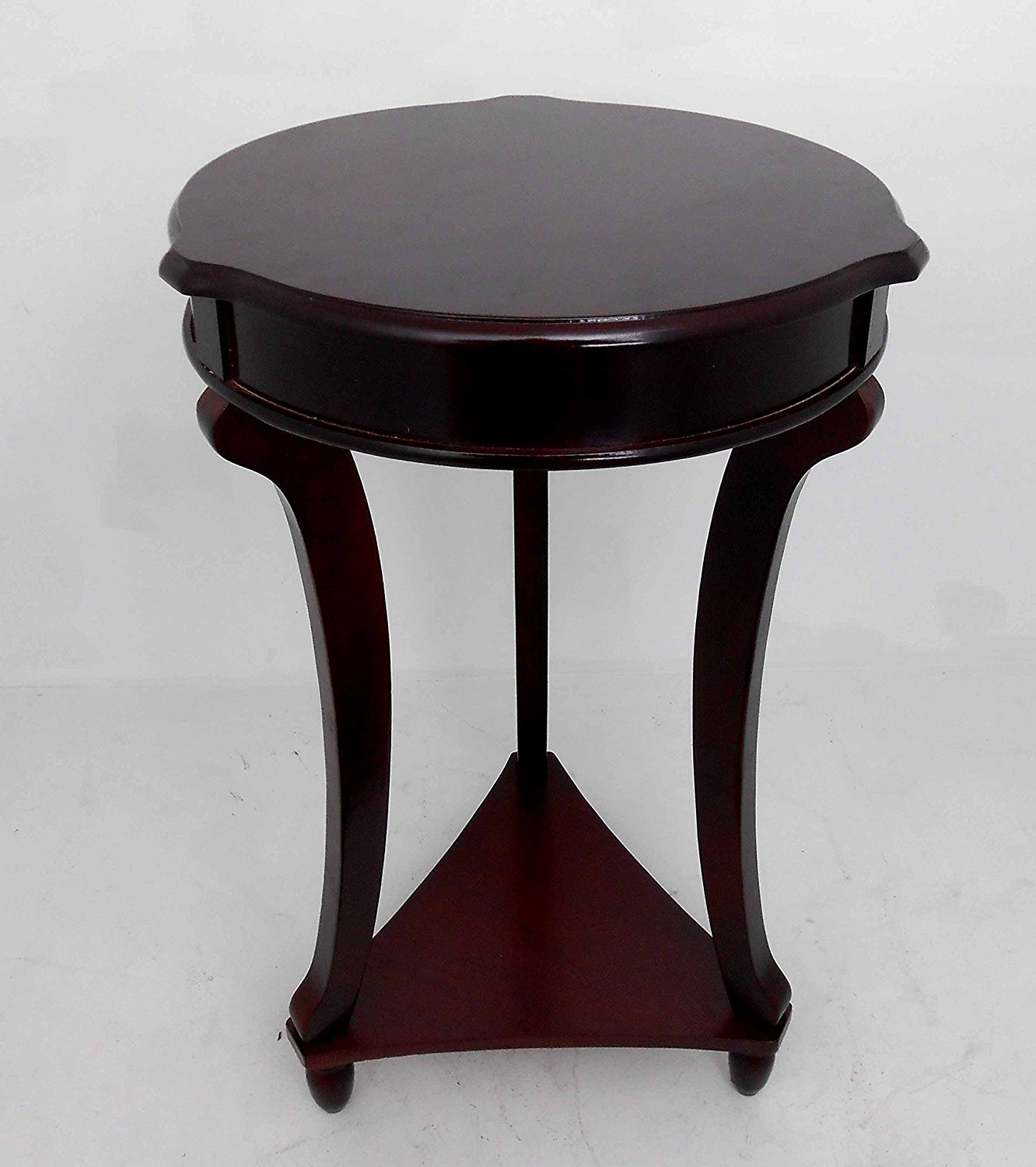 Get Quotations Nf Brown Round Accent Tables End Telephone Plant Table Home Decorative
