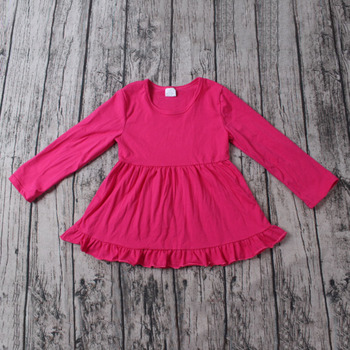 4549cca36c3c Latest Designer Pakistani Cotton Dress For Kids Solid Cotton Long Sleeve  Ruffle Baby Cotton Frocks Designs