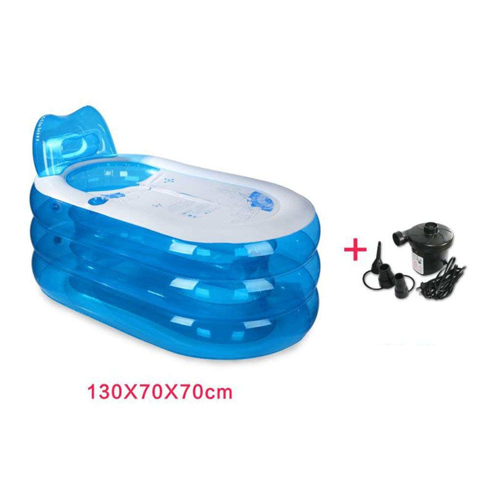 KTYX Folding Adult Bathtub Hot Tub Pvc Inflatable Bathtub Thicken Thick Bathtub Thicker Separate Bathtub Fumigation Large Tub Inflatable bathtub