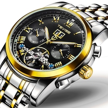 China man luxury casual new design your own watch 3atm automatic wrist moon phase skeleton watch mechanical stainless steel