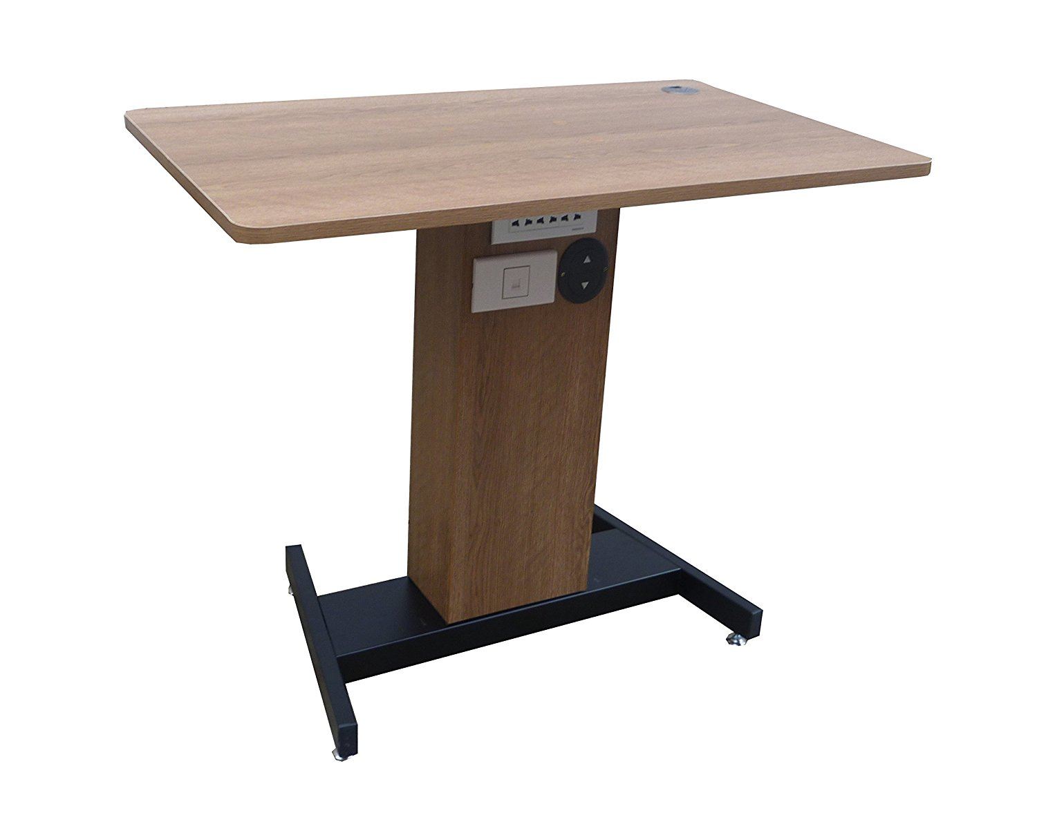 Fixture Displays Adjustable Height Sit Stand Table Desk Workstation Computer Stand Ergonomic Cherry 1227