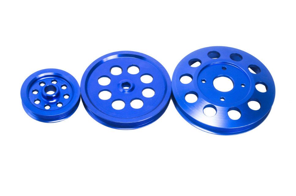 J2 магазин легкий вес шкив коленвала новый для Nissan GTR BNR32 RB26DETT RB20 / RB25 понижающей легкий вес шкив коленвала синий