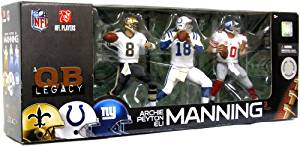 McFarlane Toys NFL Sports Picks Exclusive Action Figure 3Pack Manning Quarterback Legacy Archie, Eli & Peyton
