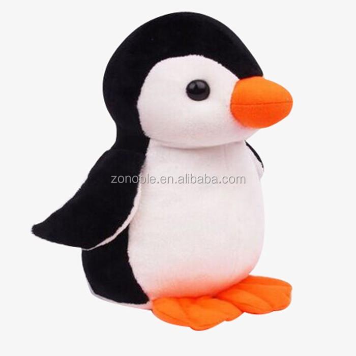 Sea World Plush Toy For Kids Custom Cartoon Soft Stuffed Penguin