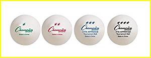 Champion Sports 2 Star Table Tennis Balls, Pack of 6 of White Ping Pong Balls [Pack of 6]