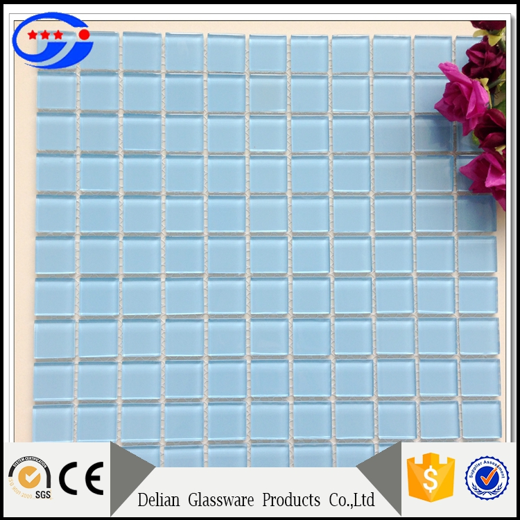Blues Color Family and Irregular Shape Floor Tiles