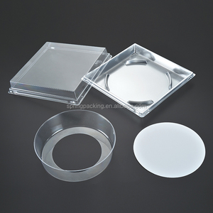 Silver Base clear cake dome lid plastic cake box and thermoforming food tray cake packaging