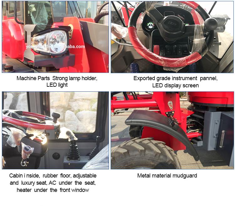 trator do equipamento de construção 4wd com o carregador da roda do mini carregador da parte frontal para a venda com certificação do CE