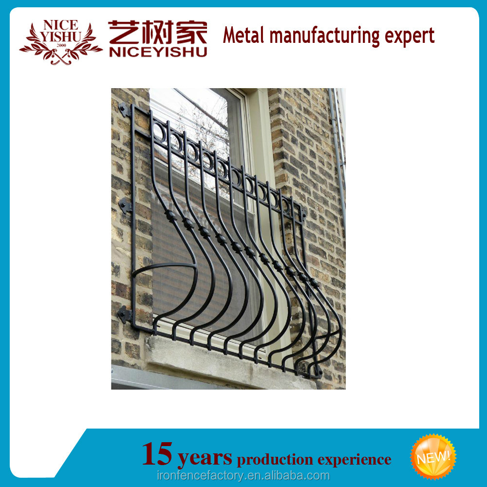 Modern Simple Iron Window Grills Designs/wrought Iron Window Gril ...