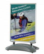 Outdoor forecourt sign swing master uv stabilized A line poster stand