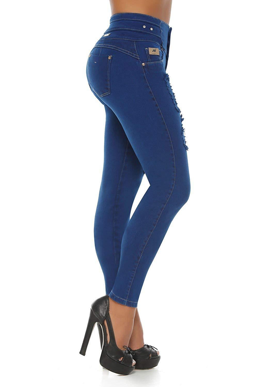94eb5ddc7d Get Quotations · VEROX JEANS Pantalones Colombianos Levanta Cola Colombian  Jeans Levantacola 3215