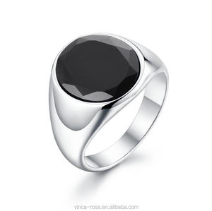 316 Stainless Steel Simple Jewelry Agate Stone Championship Men's Ring Model
