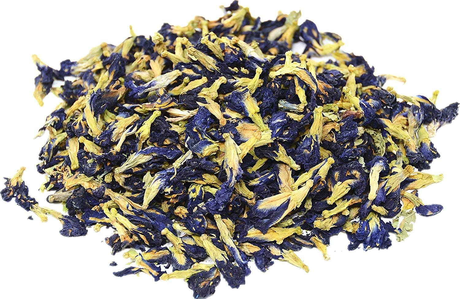Three Squirrels 100% Natural Dried Pure Whole Butterfly Pea Flower Tea, Perfect Blue Purple Coloring for Food and Beverage, 100g