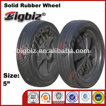 High quality solid rubber wheel, 5 inch heavy duty solid rubber wheels