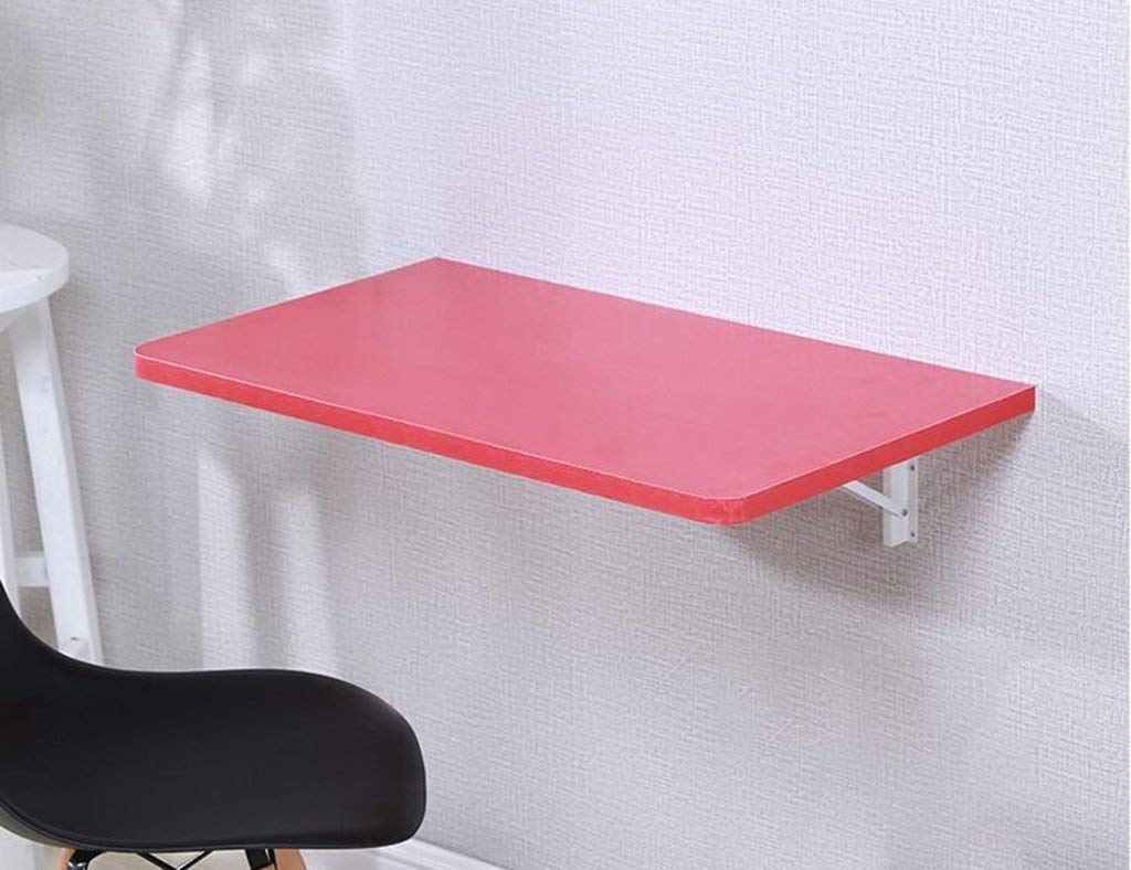 Mmdp Computer Desk Office Table Wall-mounted Laptop Desk Foldable Dining Table Learning Table Color Size Optional (Color : Red, Size : 6040cm)