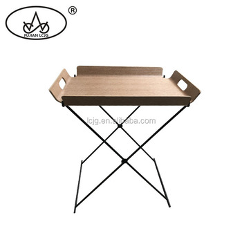 Hot Sale Small Round Folding Metal Steel Snack Tray Sofa Metal Side Table