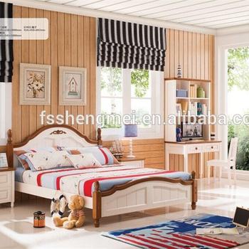 Pine Wood Children Bedroom Sets and Color White Color Girls Room Furniture  Boys Room Furniture, View Children Bedroom Sets, SHENGMEI Product Details  ...