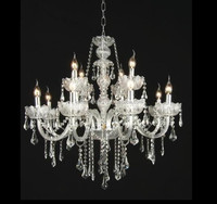 Graceful white color Glass Crystal chandelier for hotel