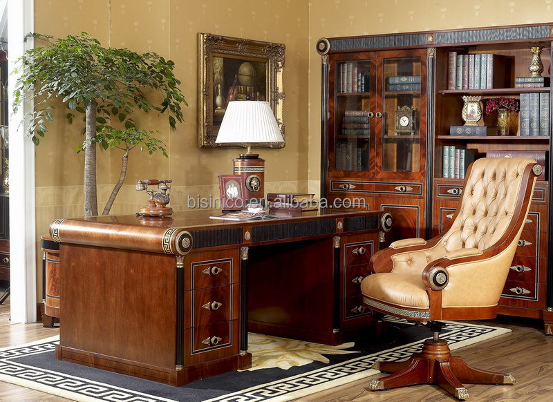 Bisini Luxury Italian Office Furniture Antique Executive Writting Desk