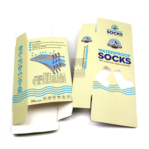 Custom Paper Packaging Box 300 Gsm Paper Box Packaging For Socks