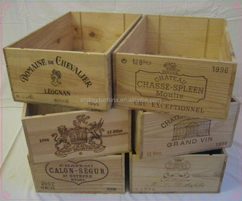 French chic retro genuine vintage used wooden wine crates for Where can i find old wine crates