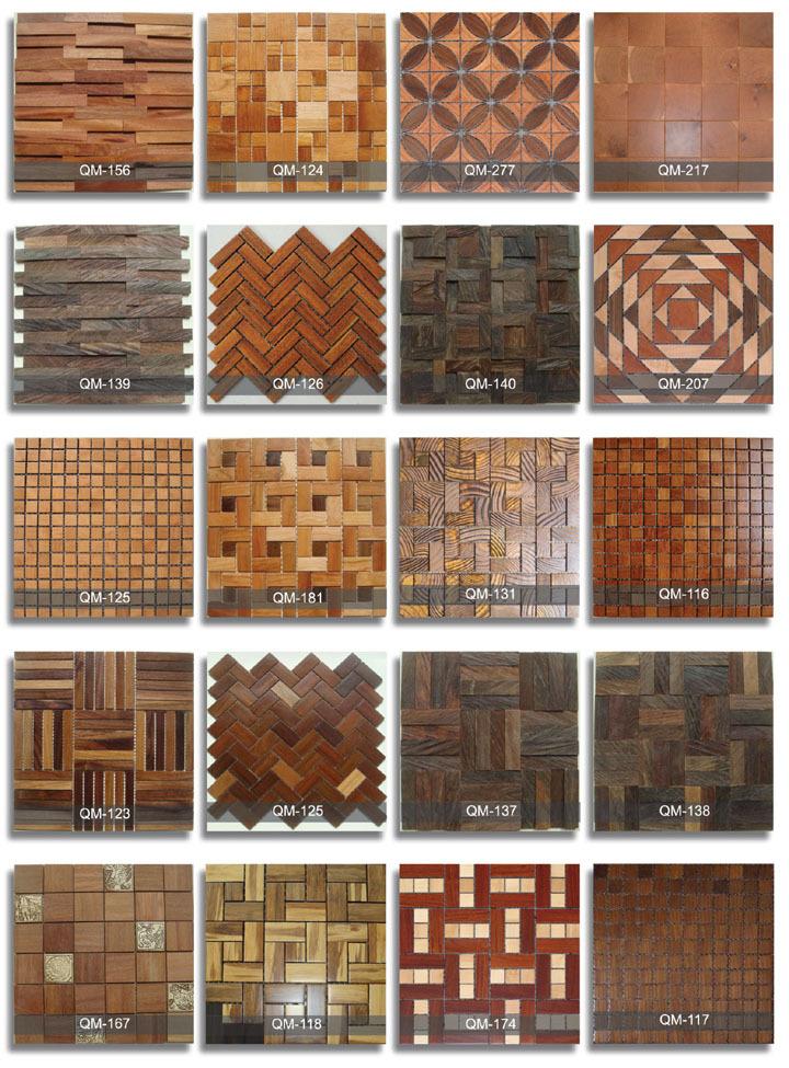 Viele Arten) Heißer Verkauf Dekoration Holz Mosaik-fliesen Für ...