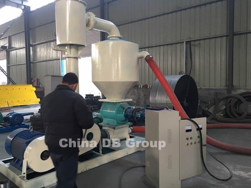 Grain Blower System : Small capacity grain sawdust vacuum air ship pneumatic