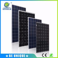 Off grid system customized size color mono solar panel black 250w