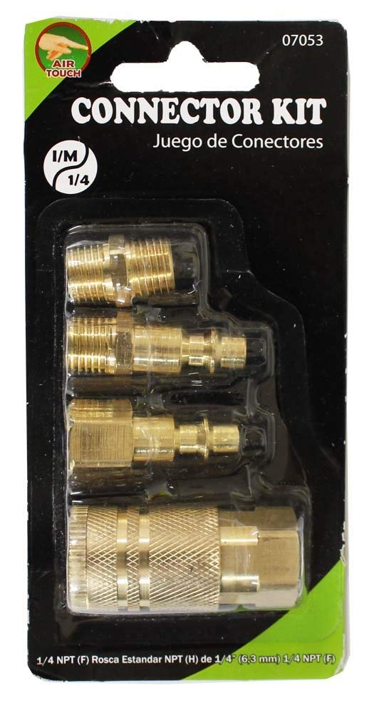 Hawk 4 Piece Brass Connector Kit For Pneumatic Air Tools