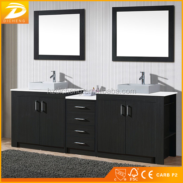 Floor Standing Modern Designs Wholesales Used Bathroom Double Sink Vanity