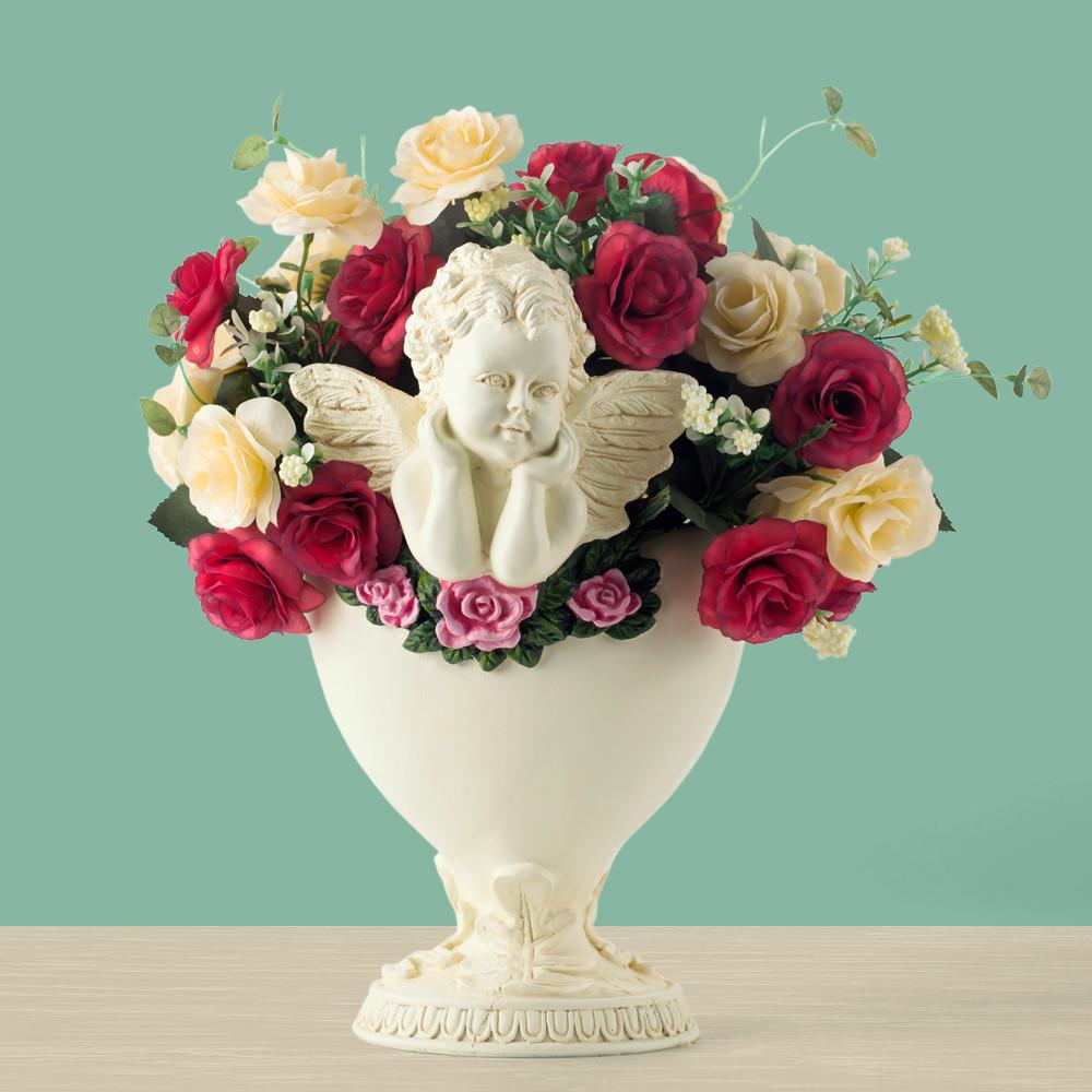 popular angel flower pot buy cheap angel flower pot lots from china angel flower pot suppliers. Black Bedroom Furniture Sets. Home Design Ideas