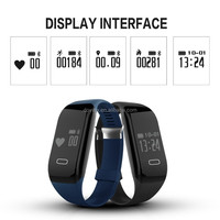 Free Shipping Heart Rate Monitor Passometer Sports Fitness Tracker Smart band For IOS Android +Retail box