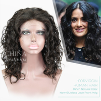 Alibaba Gold Supplier 14 Inch New Glueless Lace Front Wig Chinese Hair Wig Store
