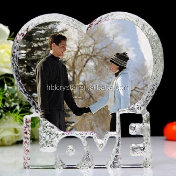 Nice crystal wedding gift crystal color printing photo frame & Nice Crystal Wedding GiftCrystal Color Printing Photo Frame - Buy ...