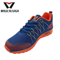 Brand cool custom flyknit sport mesh new man shoes