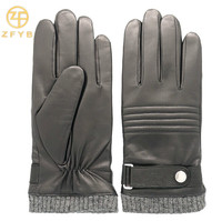 New style wholesale lamb leather motorcycle gloves for men