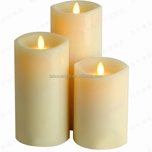 360 degree moving wick led pillar candles
