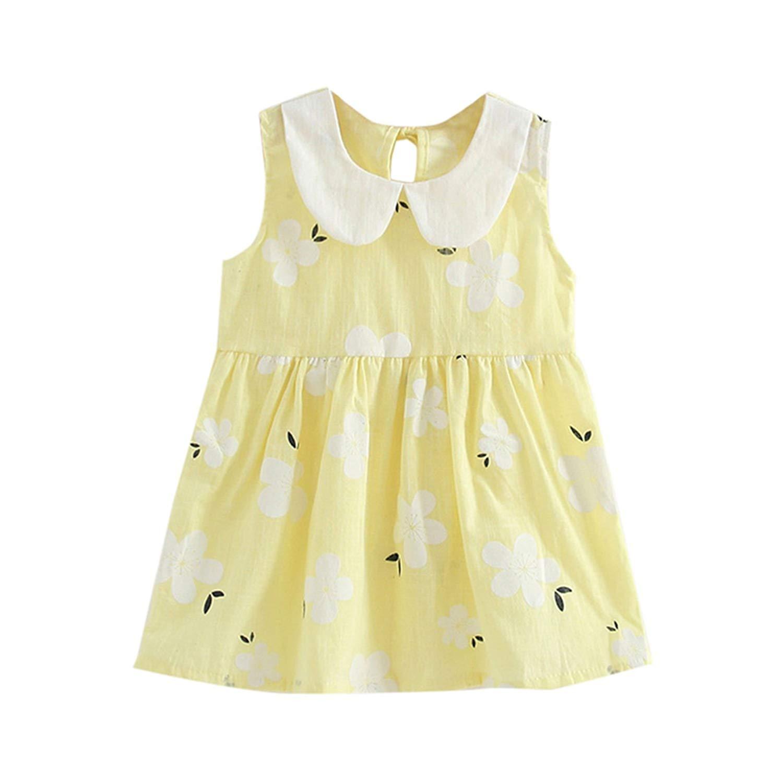 Gouache Dress Summer Children Sleeveless Toddler Girls Princess Dress Kids Baby Party Wedding Dresses