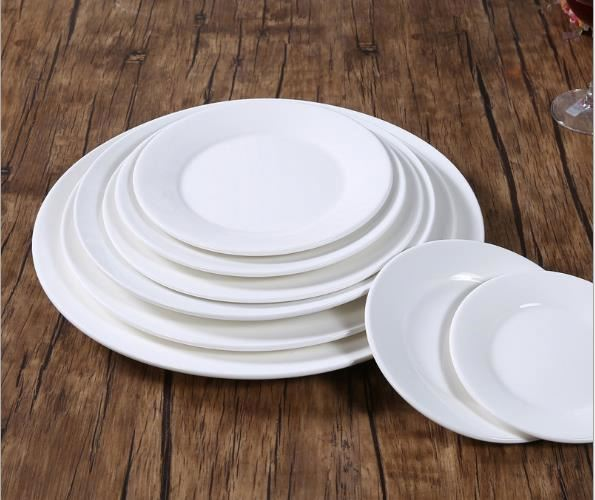 6~12 Inch round flat porcelain ceramic dinner dessert <strong>plate</strong>