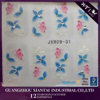 JXR09-31 hot selling new design Mix Color Floral Design 3D Nail Art Stickers Decals Manicure Nail Art Decoration