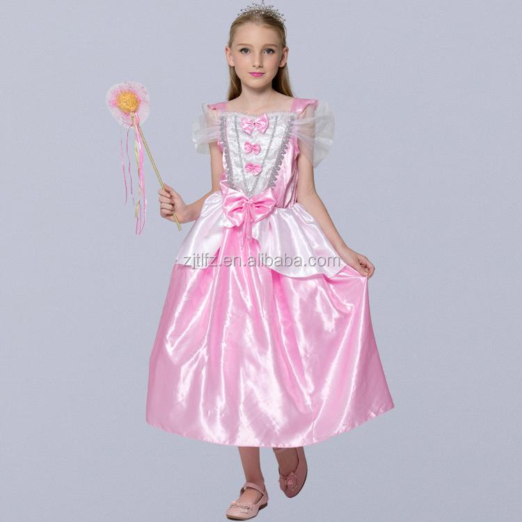 Nuevo Diseño Rosa Vestidos De Cenicienta Para Las Niñas Estilo ...
