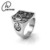 Wholesale Cheap Stainless Steel Antique Masonic Rings