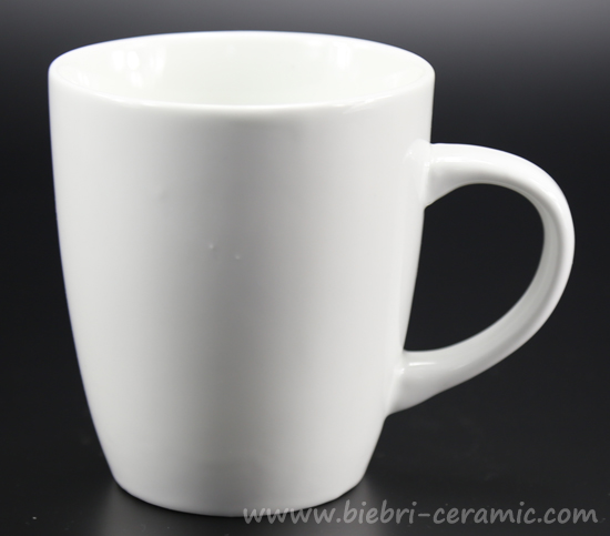 11oz Plain White Customized Porcelain Mugs And Cups With Handle